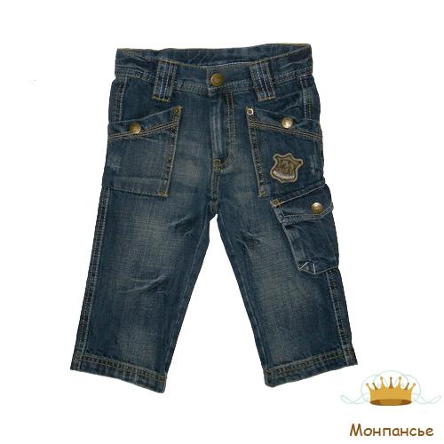 Новинка!  Джинсы для мальчика.  Украшены дополнительными карманами.